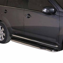Pair of Side Steps with Bars 50mm SS Mach for Mitsubishi Outlander Mk4 (10-12)