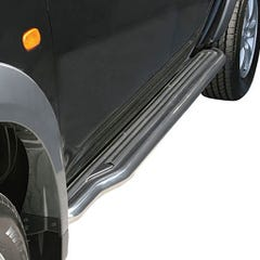 Pair of Side Steps with Bars 50mm SS Mach for Mitsubishi Shogun Mk2-3 (91-97)