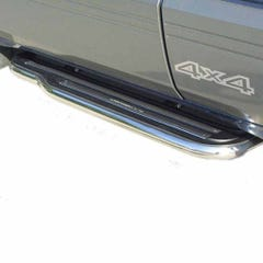 Pair of Side Steps with Bars 50mm SS Mach for Nissan Terrano 2 Mk1 (to 96)