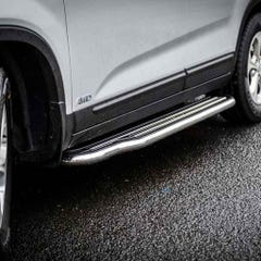 Pair of Side Steps with Bars 50mm Stainless Mach Sorento Mk4 (12 on)