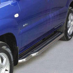 Pair of Side Steps with Bars 50mm SS Mach for Kia Sportage Mk3 (05-10)