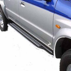 Pair of Side Steps with Bars 50mm Stainless Mach for Mazda B2500 Mk2 (98-99)