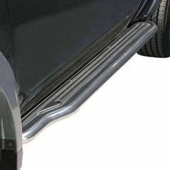 Pair of Side Steps with Bars 50mm SS Mach for Mitsubishi L200 Mk5 (05-06)