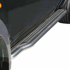 Pair of Side Steps with Bars 50mm Stainless Mach for Mitsubishi Shogun (94-97)