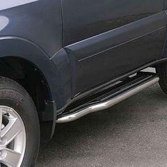 Pair of Side Steps with Bars 50mm Stainless for Mitsubishi Shogun Mk7 (07 on)