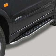 Side Steps with Bars 50mm Stainless Mach for SsangYong Kyron Mk1 (06 on)