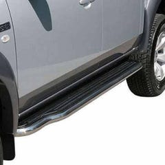 Side Steps with Bars 40mm Stainless Mach for SsangYong Rexton Mk3 (06-12)