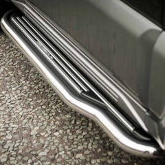 Side Steps with Bars 50mm Stainless Mach for Suzuki Jimny Mk2 (06-12)