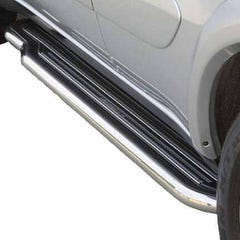 Side Steps with Bars 50mm Stainless Mach for Toyota Rav4 Mk1 (94-98)