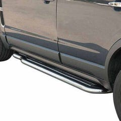 Side Steps with Bars 50mm Stainless Mach for Vauxhall Frontera Mk1 Est (to 94)