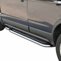 Side Steps with Bars 50mm Stainless Mach for Vauxhall Frontera Mk1 Sport (to 94)