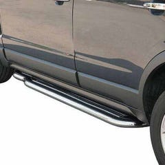Side Steps with Bars 50mm Stainless Mach for Vauxhall Frontera Mk2 Est (94-98)