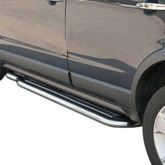 Side Steps with Bars 50mm Stainless Mach for Vauxhall Frontera Mk2 Sport (94-98)