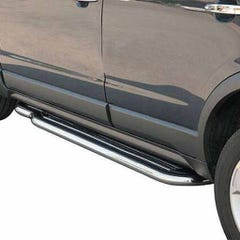Side Steps with Bars 50mm Stainless Mach for Vauxhall Frontera Mk3 Sport (98 on)