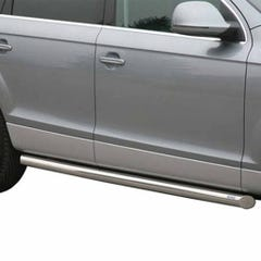 Pair of Side Bars 76mm Stainless Mach for Audi Q7 (06 on)