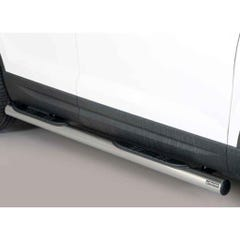 Pair of Side Bars with Step 76mm Black Stainless Mach for Seat Ateca Mk1 (16 on)