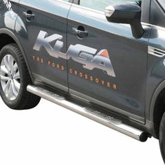 Pair of Side Bars with Step 76mm Stainless Mach for Ford Kuga (08-13)