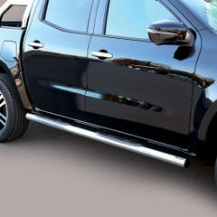 Side Bars with Step 76mm Stainless Mach for Mercedes X Class (18 on)