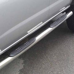 Pair of Side Bars with Step 76mm SS Mach for Mitsubishi Shogun Mk5-6 (00 on) SWB