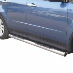 Pair of Side Bars with Step 76mm Stainless Mach for Subaru Tribeca Mk2 (08 on)