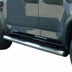 Pair of Side Bars with Steps 76mm Stainless Mach for Toyota Rav4 Mk5 (06-10)