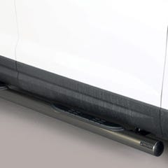 BlackOval Tube Side Bars with Steps 76mm Mach for Seat Ateca Mk1 (16 on)