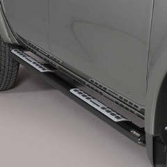 Black Oval Tube Side Bars with Design Steps 76mm Mach Fullback Mk1 DC