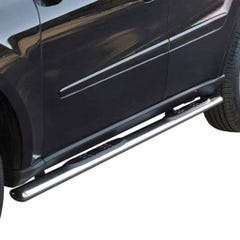 Pair of Oval Tube Side Bars with Steps 76mm SS Mach for Kia Sorento Mk1 (02 on)