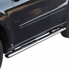 Pair of Oval Tube Side Bars with Steps 76mm SS Mach for Kia Sportage Mk3