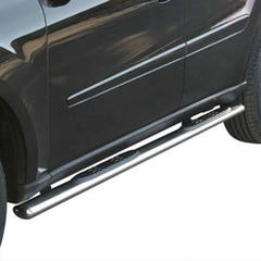 Pair of Oval Tube Side Bars with Steps 76mm SS Mach for Mercedes M-Class Mk3
