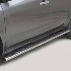 Pair of Oval Tube Side Bars with Steps 76mm SS Mach for Nissan Murano (05 on)