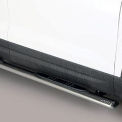 Pair of Oval Tube Side Bars with Steps 76mm SS Mach for Seat Ateca (16 on)
