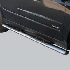 Oval Tube Side Bars with Steps 76mm SS Mach for SsangYong Actyon Mk1 (07 on)