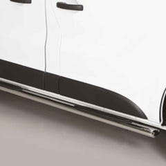 Oval Tube Side Bars with Steps 76mm Black SS Mach for NV300 (16 on)