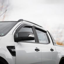 Quad Set Wind Deflectors Dark Smoke Ford Ranger Mk5-7 (12 on)