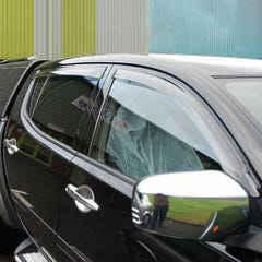 Quad Set Front & Rear Wind Deflectors Light Smoke Hyundai Santa Fe Mk1 (00-05)