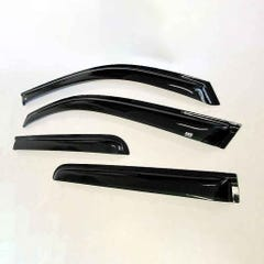 Quad Set Front & Rear Wind Deflectors Dark Smoke Santa Fe Mk5 (12-18)