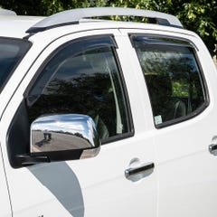 Quad Set Front & Rear Wind Deflectors Light Smoke Isuzu D-Max Mk4-5 (12-20)