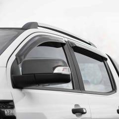 Quad Set Wind Deflectors Dark Smoke Mitsubishi L200 Mk8 (2015+) / Fiat Fullback