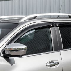 Quad Set Front & Rear Wind Deflectors Dark Navara NP300 Navara (16 on) / X-Class
