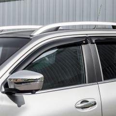 Quad Set Front & Rear Wind Deflectors Dark Navara NP300 Navara (16 on) / X-Class