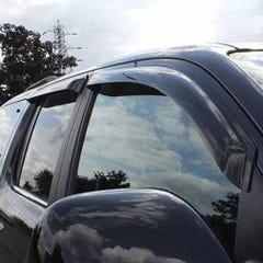 Quad Set Front & Rear Wind Deflectors Dark Smoke for Nissan Juke Mk1 (10 on)