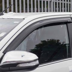 Quad Set Front & Rear Wind Deflectors Dark Smoke Toyota Hilux Mk8 (16 on))