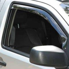 Front Wind Deflectors Light Smoke for Nissan Qashqai (07 on)