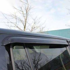 Rear Wind Deflectors Light Smoke for Mitsubishi Outlander Mk1 (03-06)