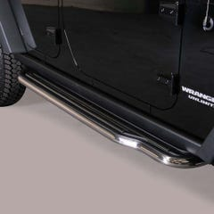 Pair of Side Steps with Bars 50mm SS Mach for Jeep Wrangler (2007 on)