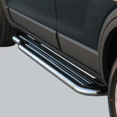 Pair of Side Steps with Bars 50mm SS Mach for Chevrolet Captiva (07 on)