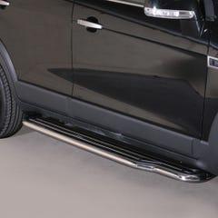 Pair of Stainless Steel 50mm Running Board Side Steps Chevrolet Captiva (2011 - 2013)