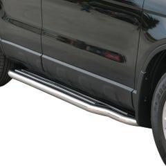 Pair of Stainless Steel 50mm Running Board Side Steps Honda CR-V Mk4 (2007 - 2010)