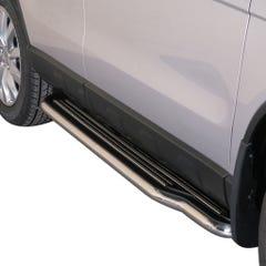 Pair of Stainless Steel 50mm Running Board Side Steps Honda CR-V Mk5 (2010 - 2012)